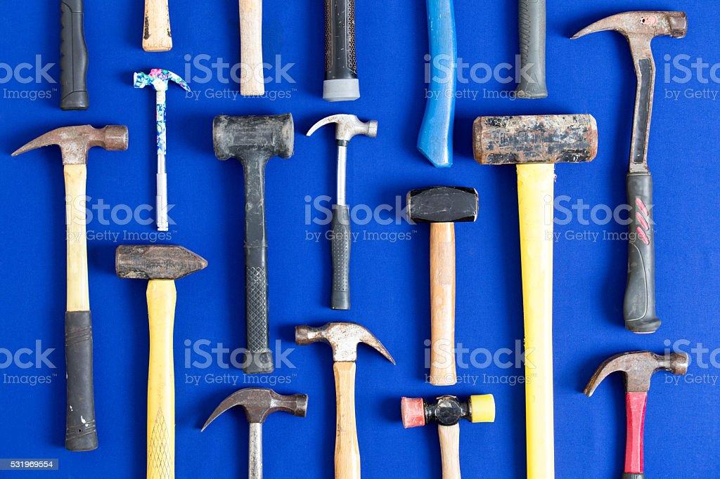 World of hammers stock photo