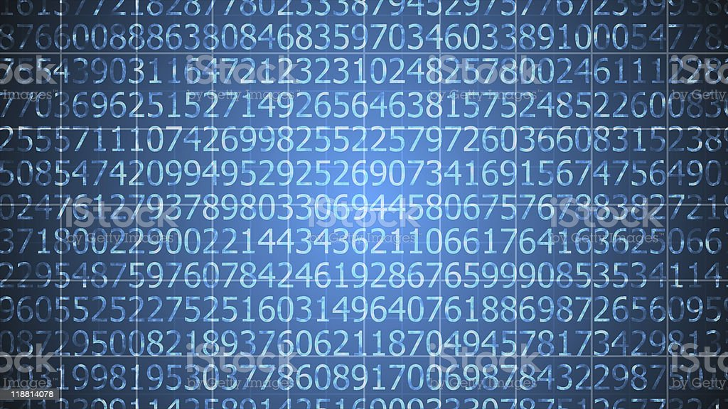 World of numbers background stock photo