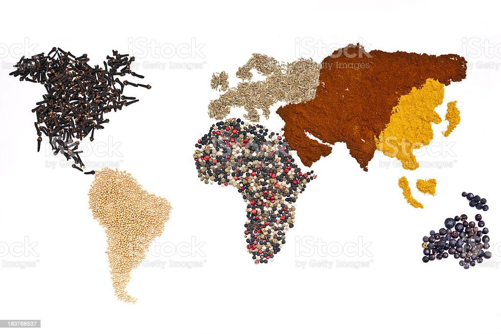 World of Spices stock photo