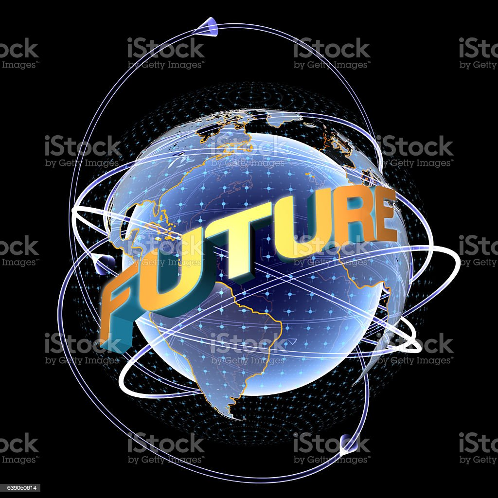 World of The Future stock photo