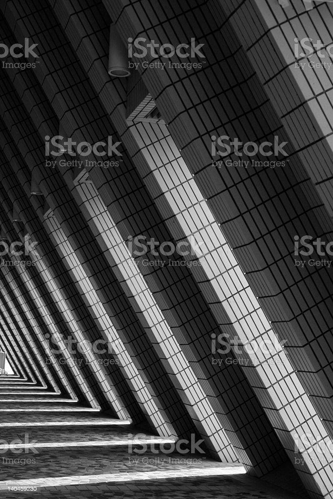 world of triangles (black & white) royalty-free stock photo
