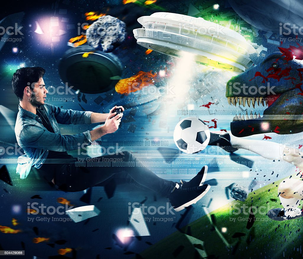 World of videogames stock photo