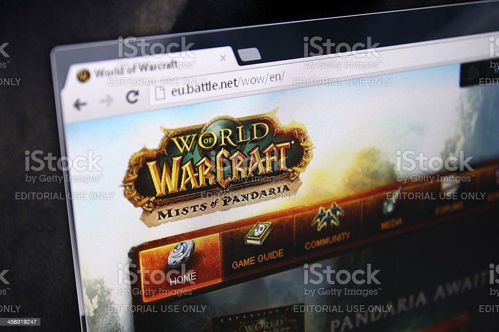 World of Warcraft Pandaria homepage stock photo