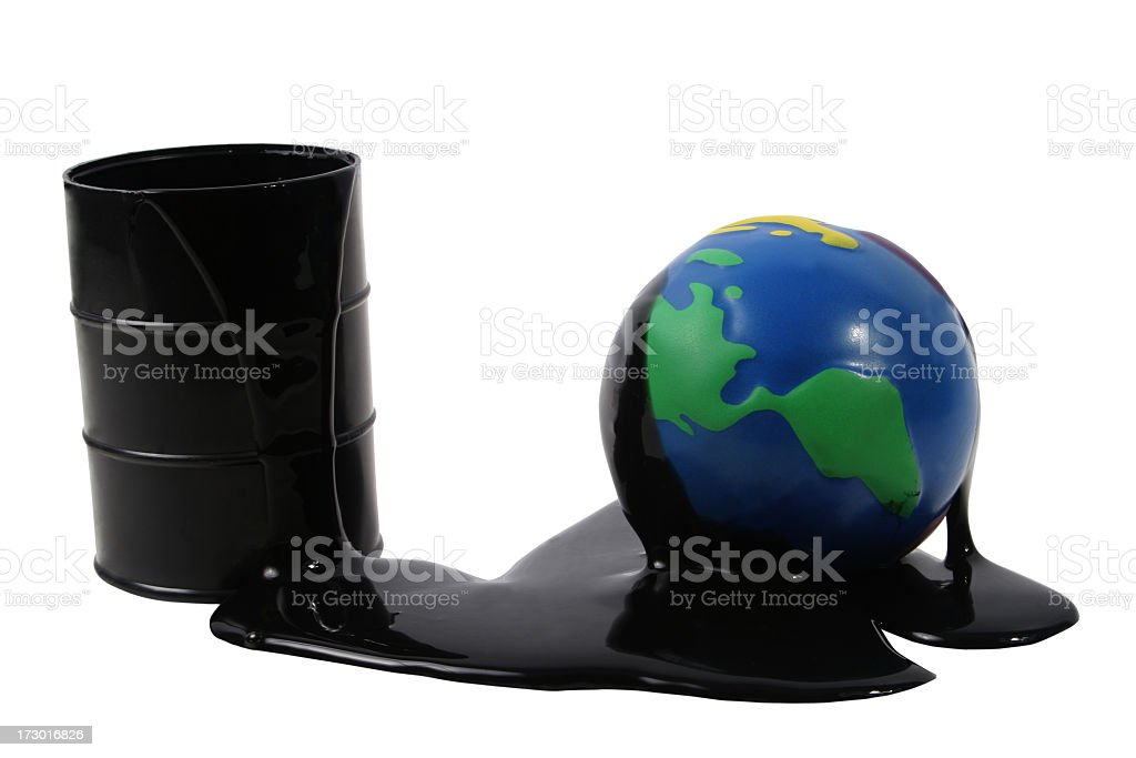 World Oil cost royalty-free stock photo