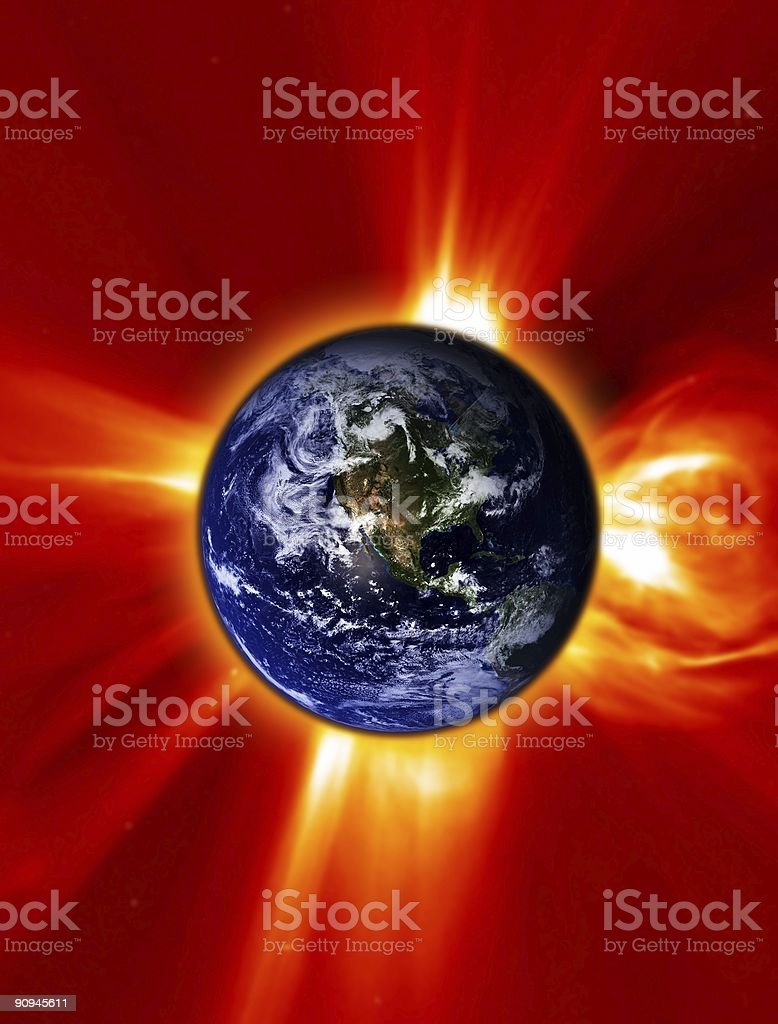 World on Fire royalty-free stock photo