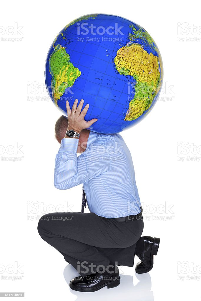 World on your shoulders stock photo