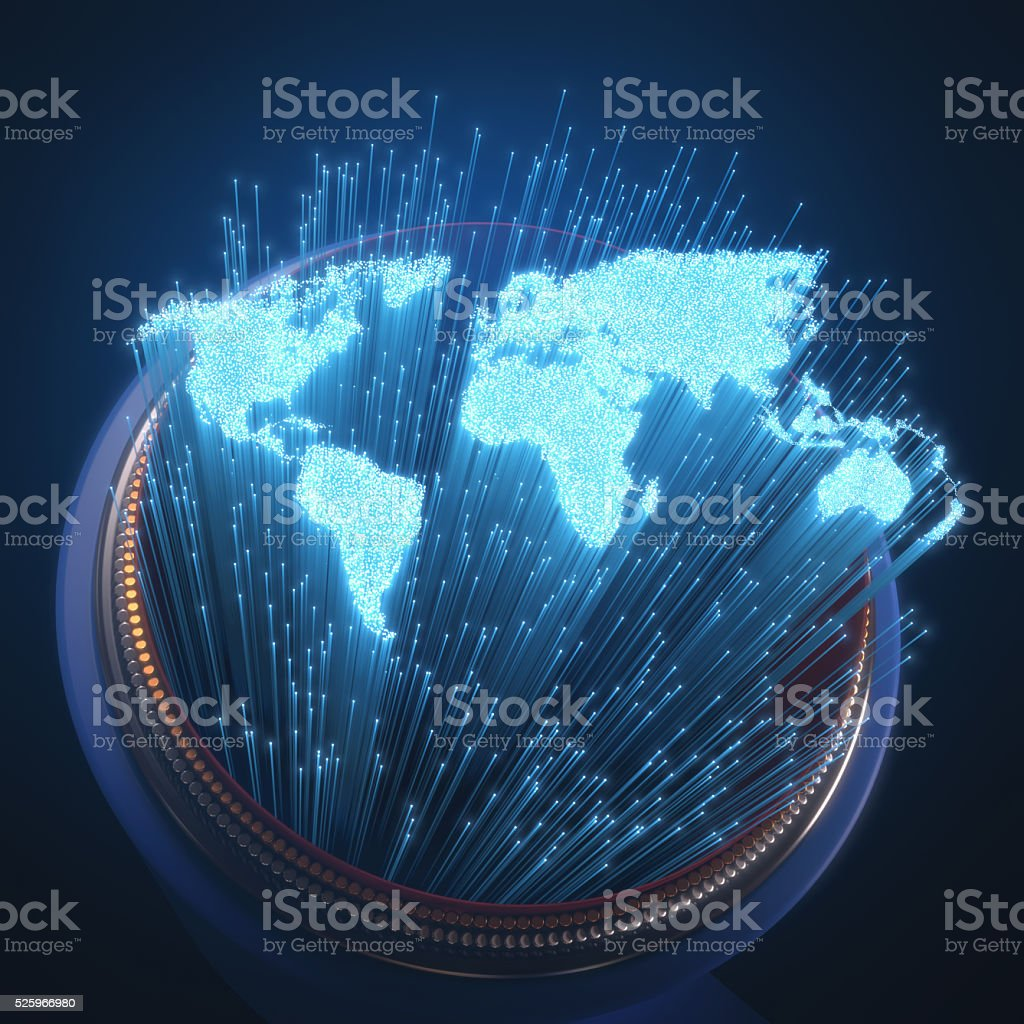 World Optical Fiber stock photo