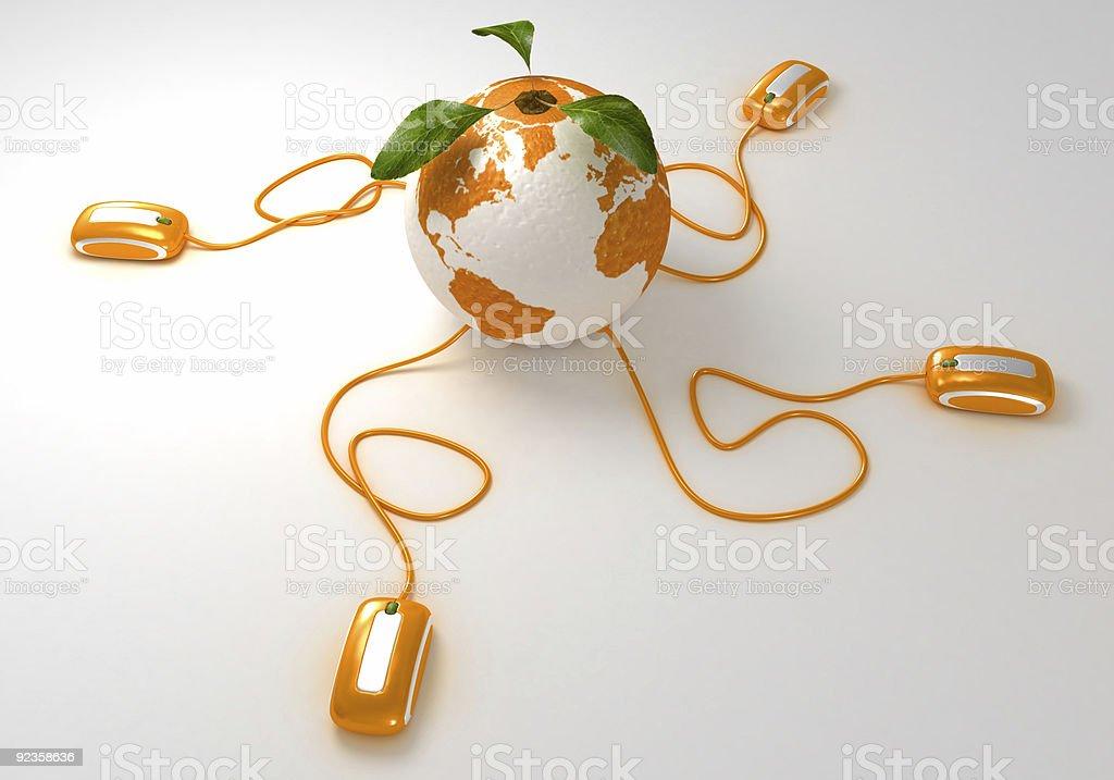 World orange Web royalty-free stock photo
