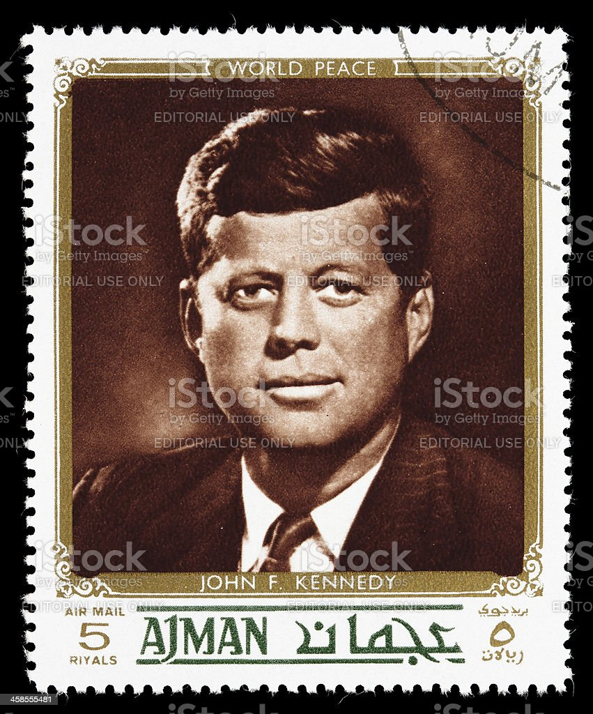 World peace John F. Kennedy postage stamp royalty-free stock photo