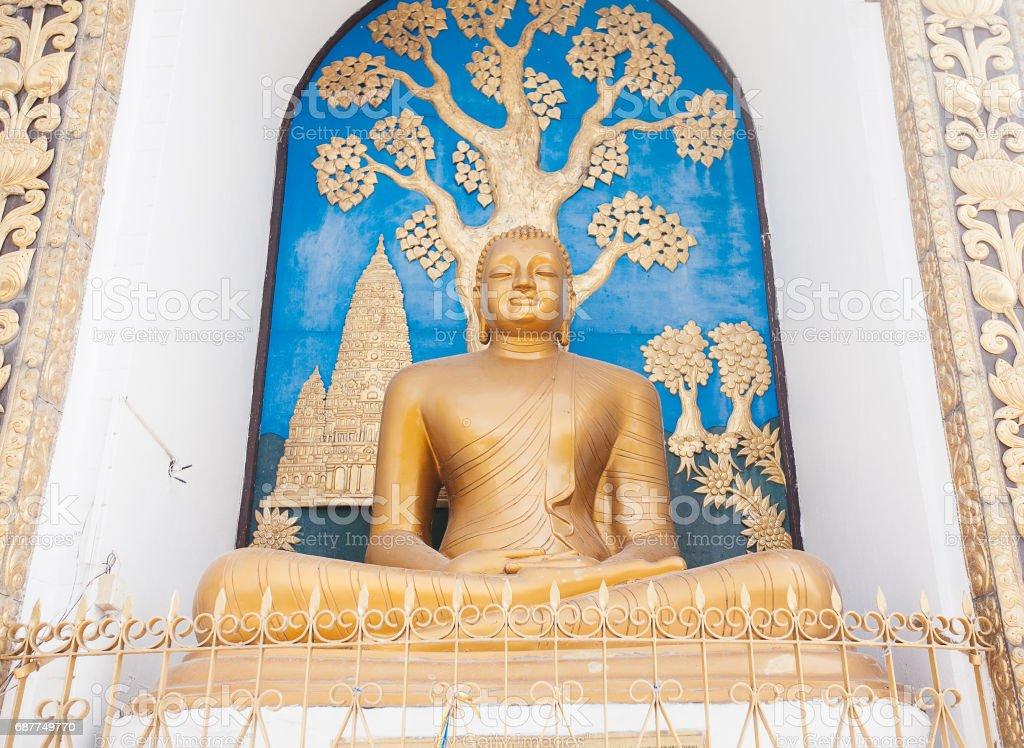 World Peace Pagoda in Pokhara, Nepal stock photo