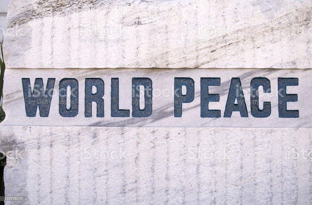 World Peace Sign royalty-free stock photo