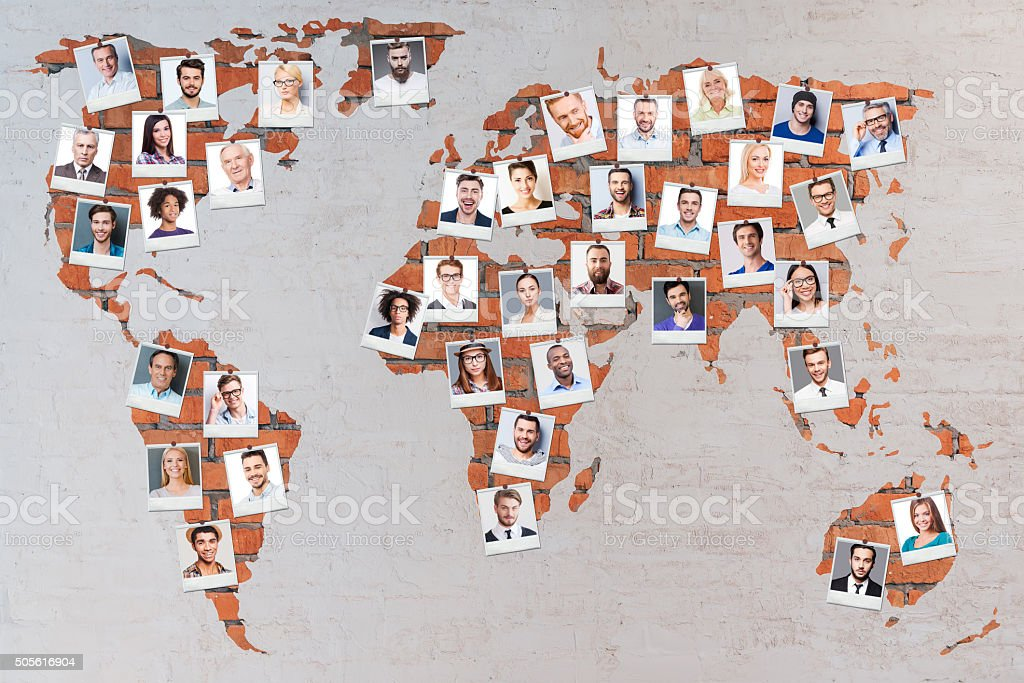 World population. stock photo