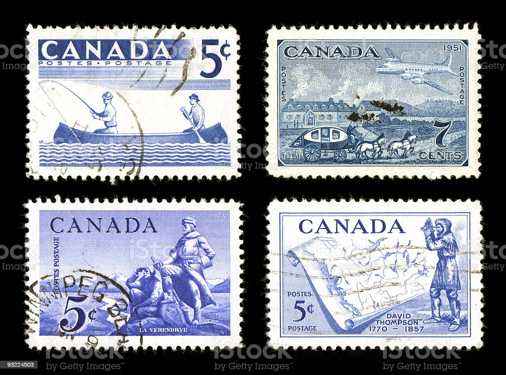 World Postage Stamps stock photo
