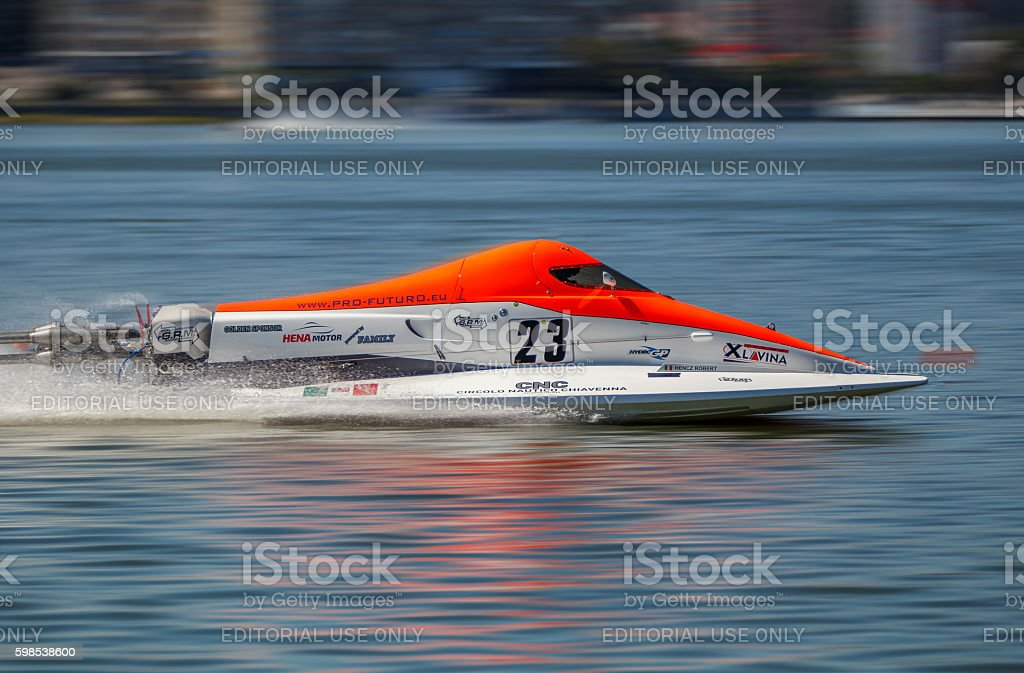 World Powerboat Championship . Robert Hencz, on August 26, 2016 stock photo