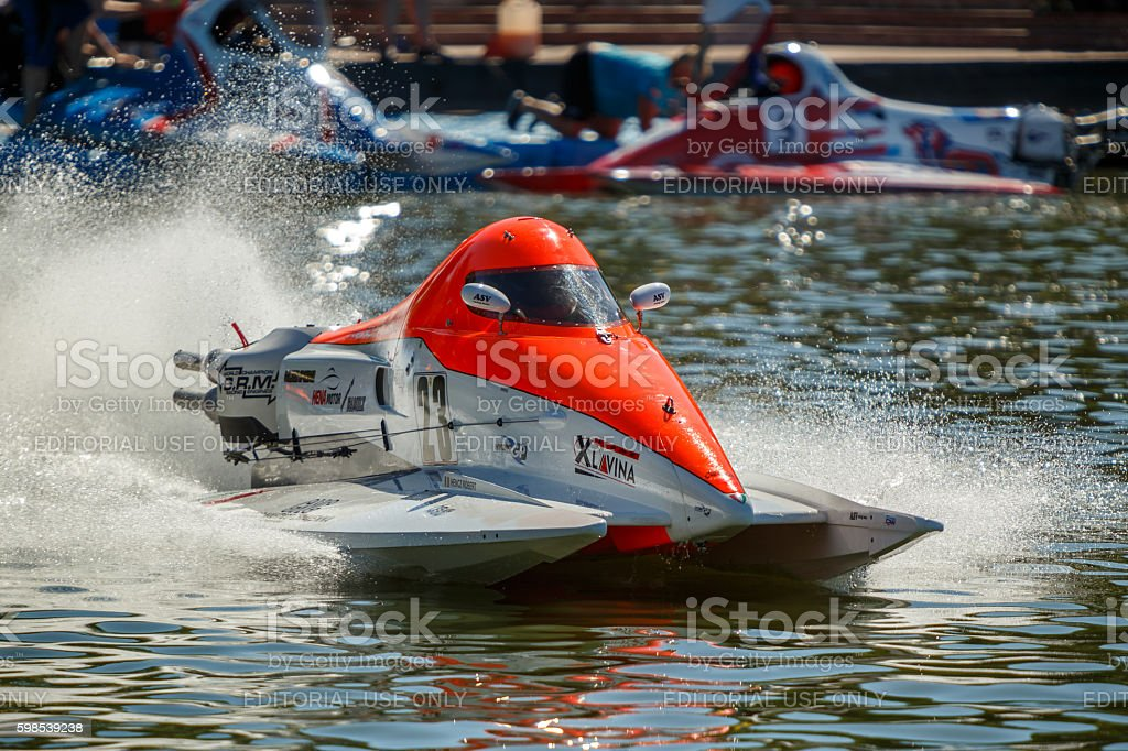 World Powerboat Championship . Robert Hencz, stock photo