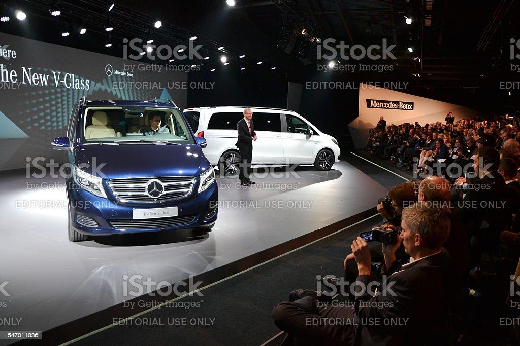 World premiere of Mercedes V-Class stock photo