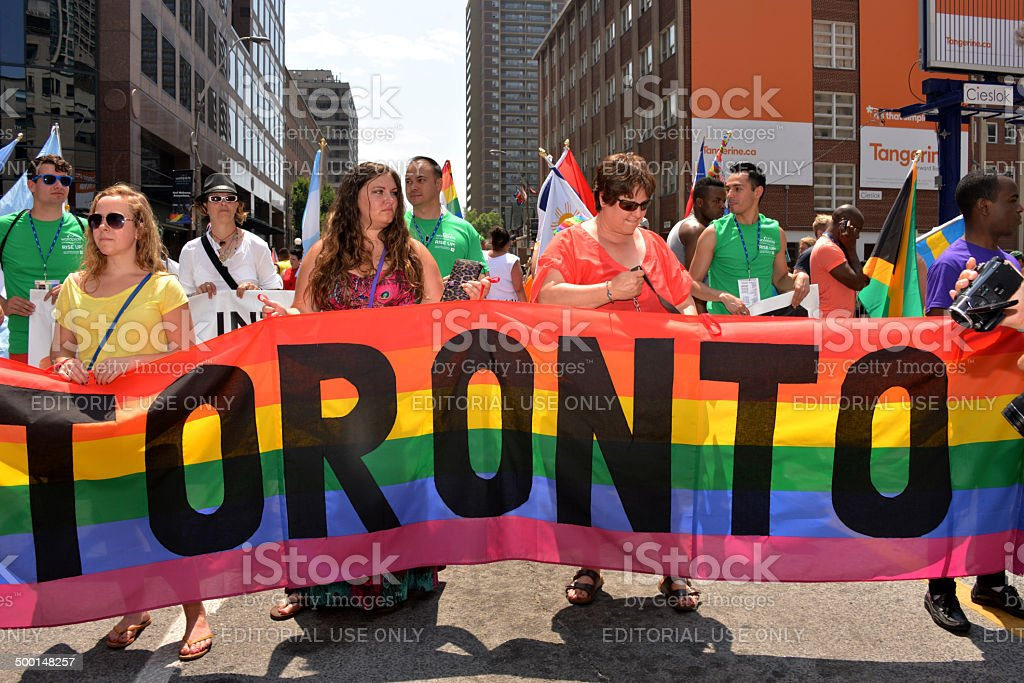 World Pride Parade Toronto stock photo