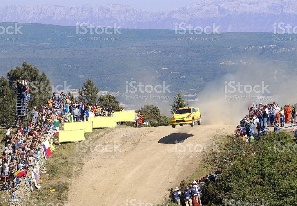 World Rally Car stock photo
