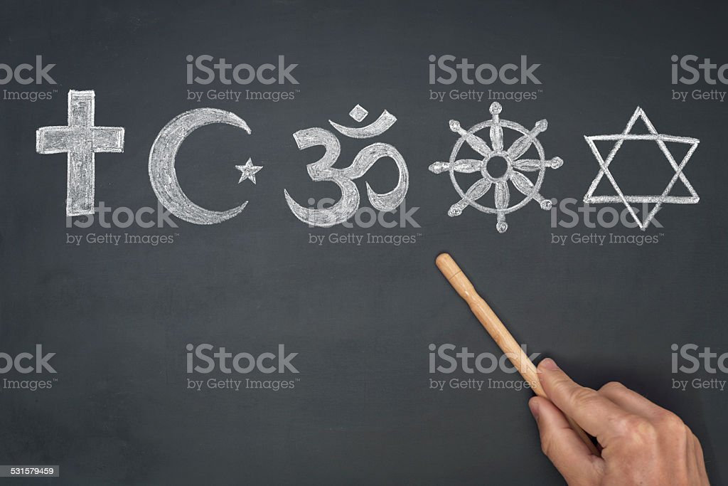 world religions - major religions group stock photo