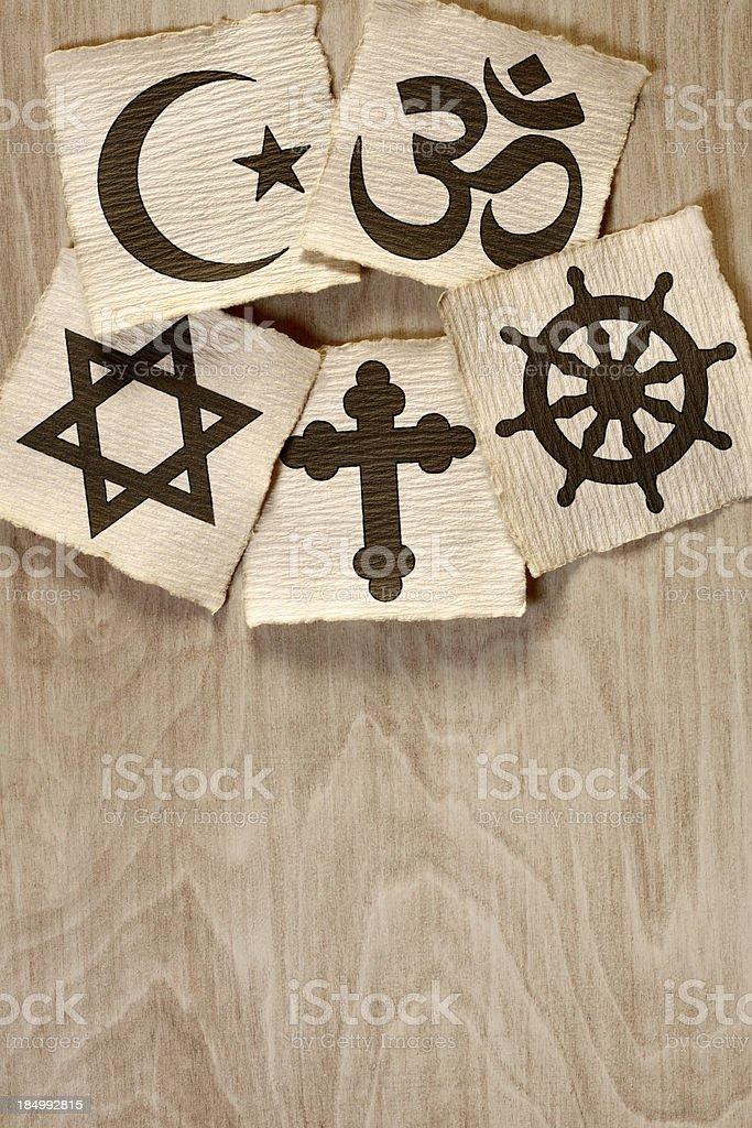 World religions stock photo