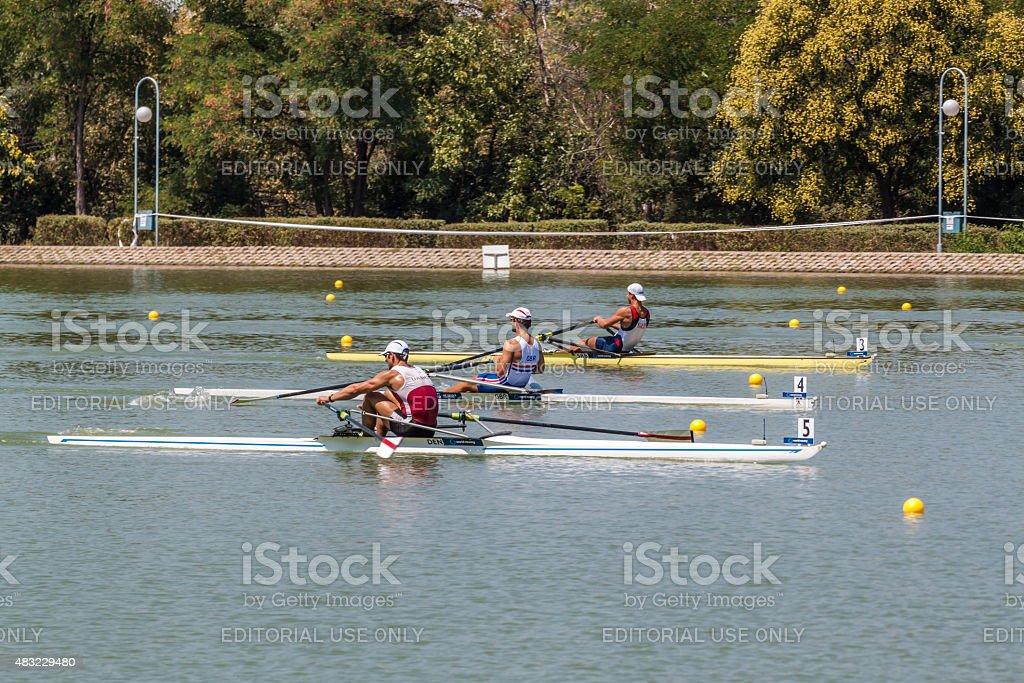 World rowing championship stock photo