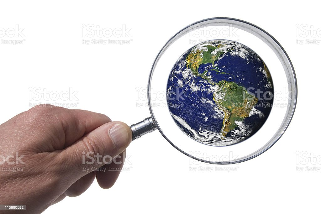 World Scrutiny royalty-free stock photo