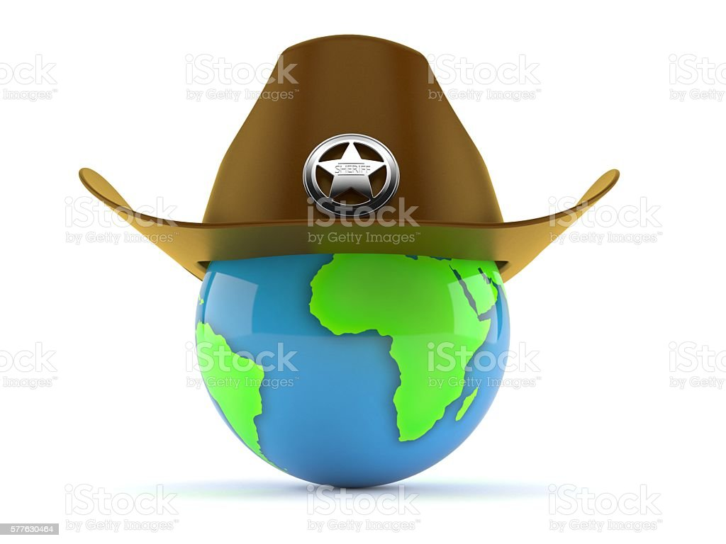 World sheriff stock photo