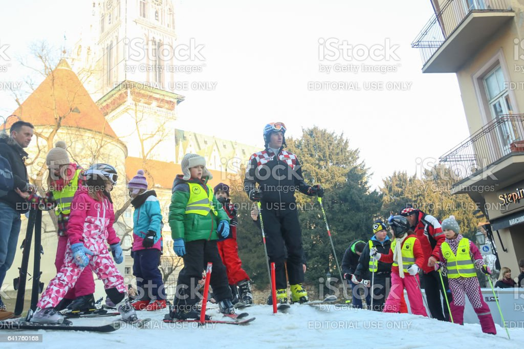 World Snow Day with Ivica Kostelic stock photo