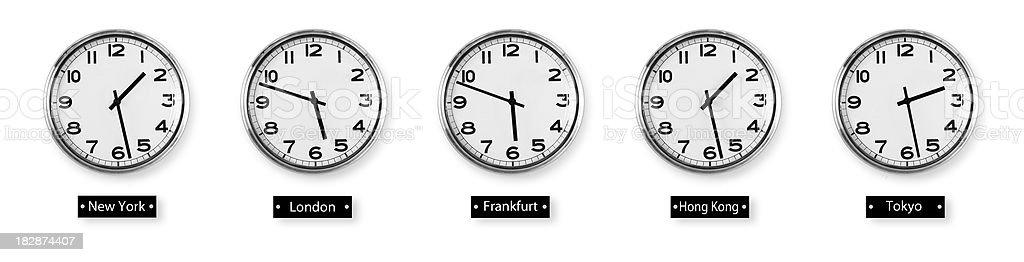 World Time Zones stock photo