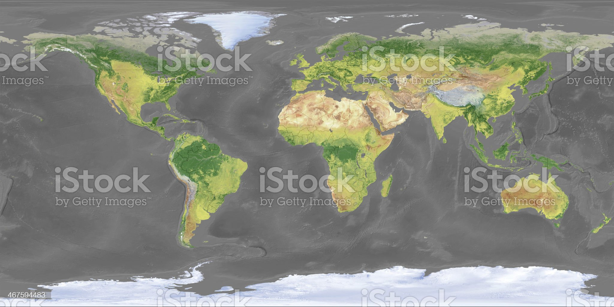 world Topographic Map,National Border royalty-free stock photo