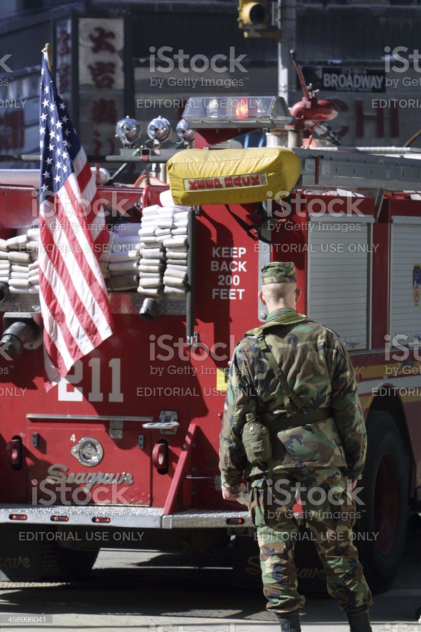 World Trade Center - 911 royalty-free stock photo