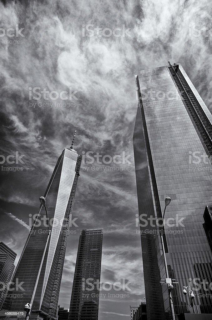World Trade Center Cityscape, Ground Zero, Manhattan, New York City stock photo