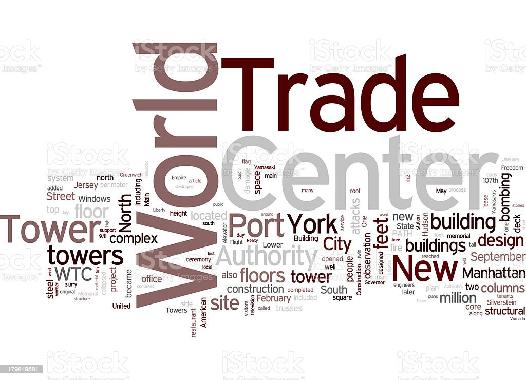 World trade center collage concepts stock photo