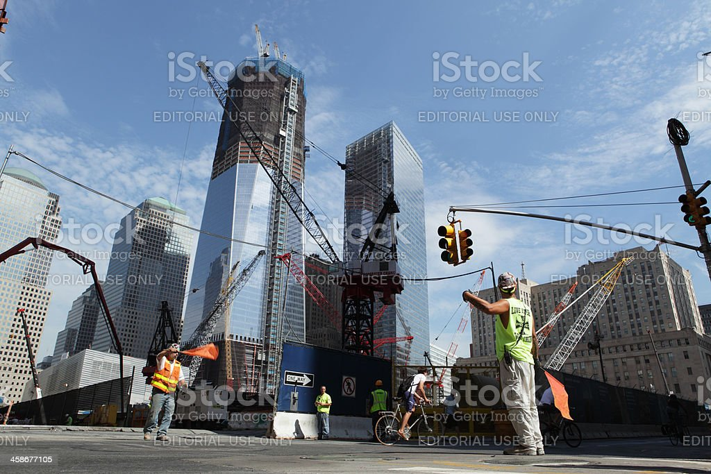 World Trade Center Ground Zero construction site stock photo