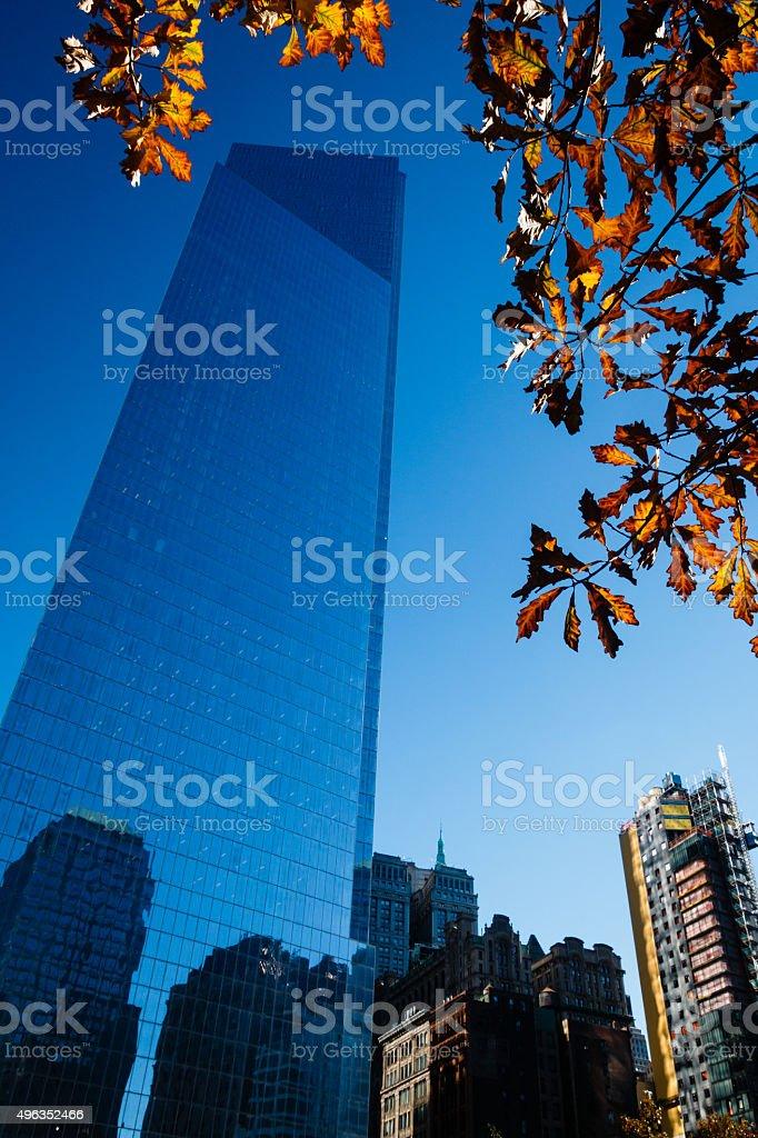 4 World Trade Center in New York City stock photo