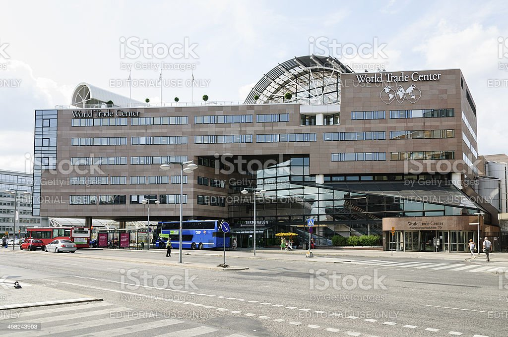 World Trade Center in Stockholm and Cityterminalen. royalty-free stock photo