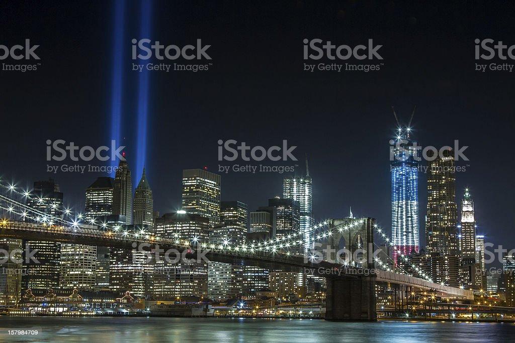 World Trade Center Lights stock photo