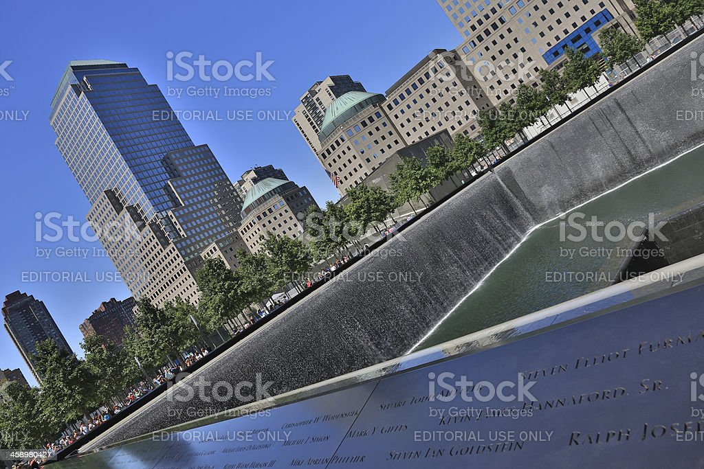 World Trade Center Memorial in New York City, Usa stock photo