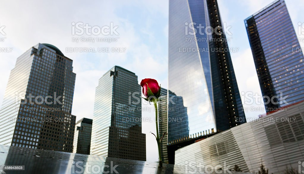 World Trade Center memorial stock photo