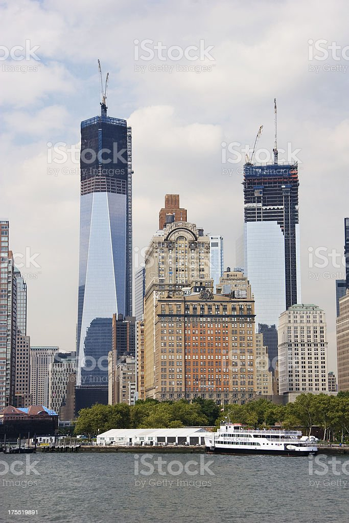 World Trade Center Memorial Towers stock photo