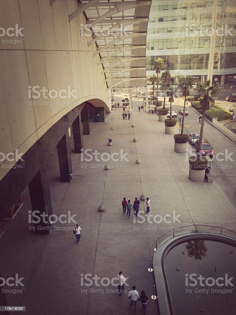 Street of world trade center in Mexico stock photo