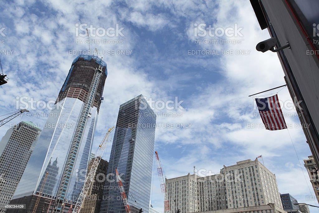 World Trade Center New York construction royalty-free stock photo