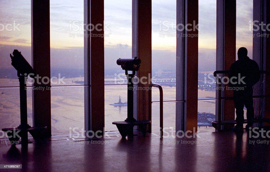 World Trade Center Observatory at dusk stock photo