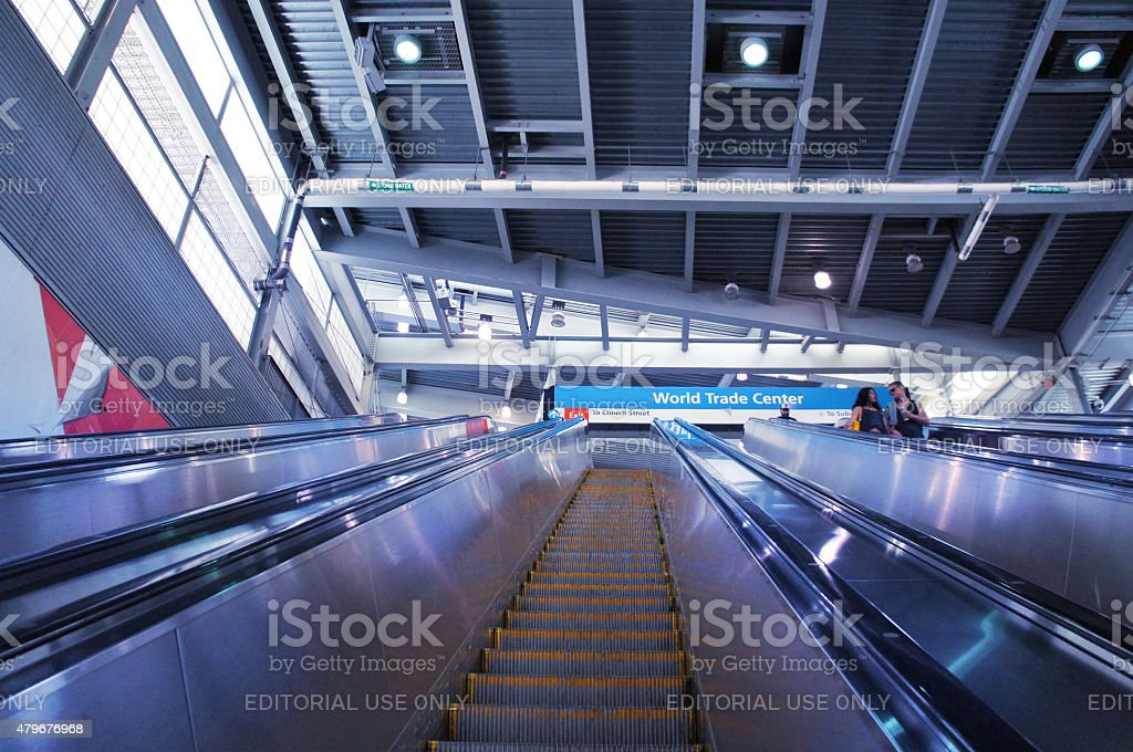World Trade Center PATH (The Port Authority) Station stock photo