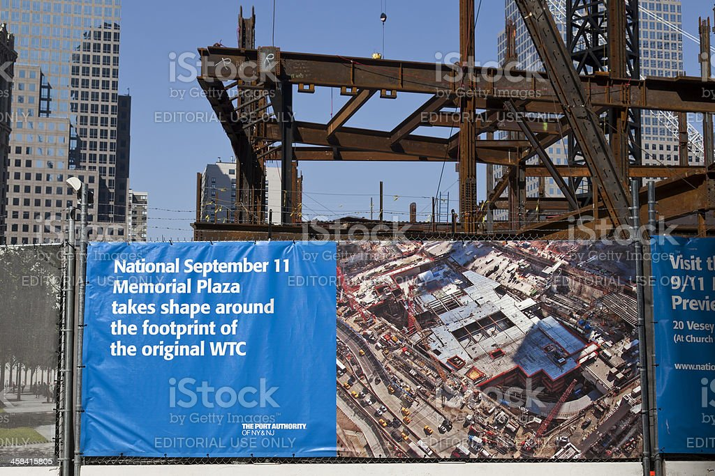 World Trade Center Reconstruction royalty-free stock photo