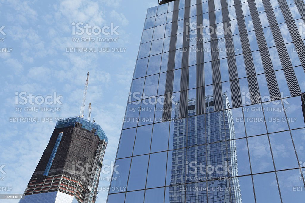 World Trade Center towers One and Four stock photo