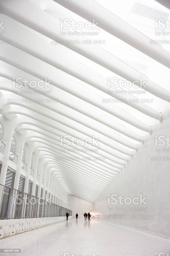 World Trade Center Transit Hub Concourse by Santiago Calatrav stock photo