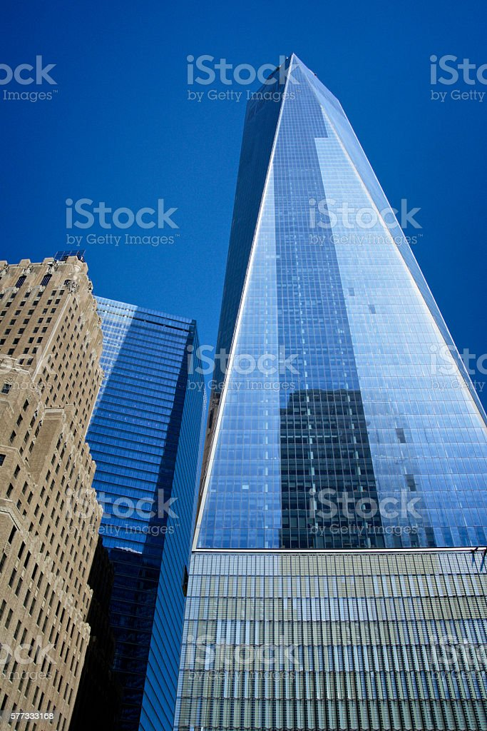 ONE World Trade Center, Urban Density Cityscape, Lower Manhattan, NYC stock photo
