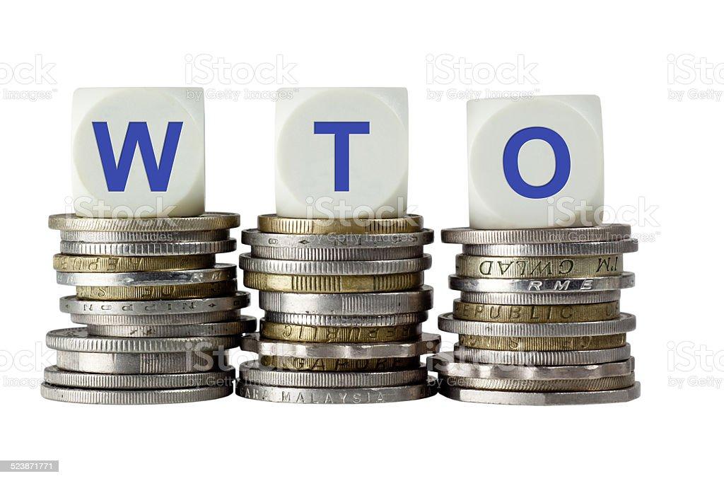 WTO - World Trade Organization stock photo