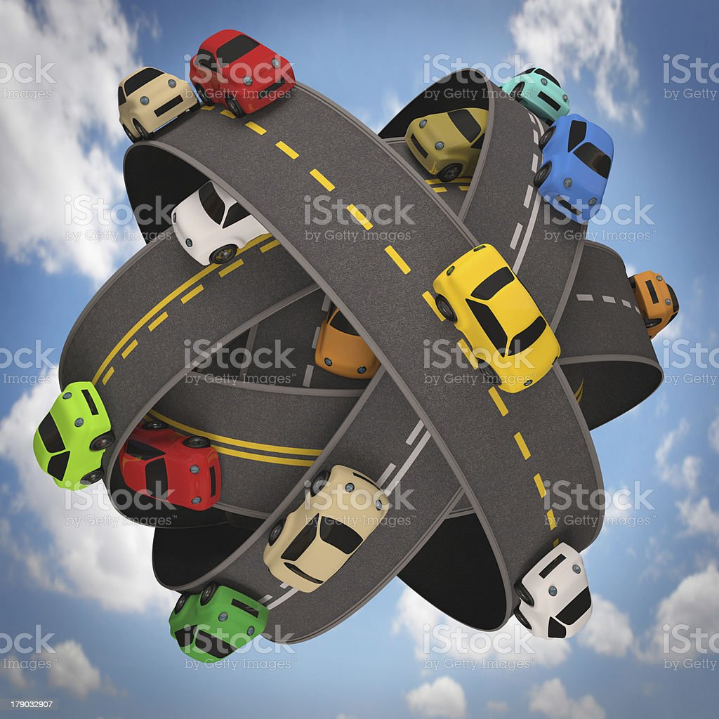 World Traffic royalty-free stock photo